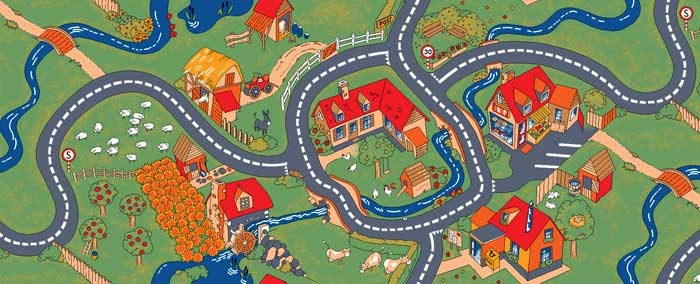 Farm and Zoo Kids Play Rugs and Play Carpets  Learn While
