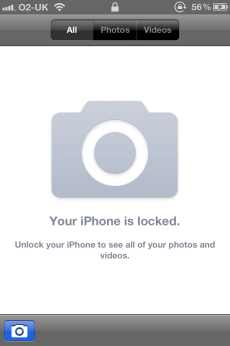 iPhone 4S Phone Locked in Camera Mode