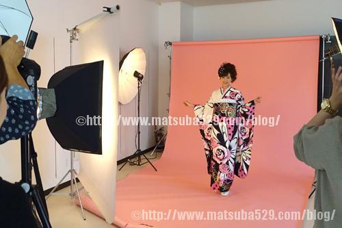 振袖レンタル撮影01白ピンク