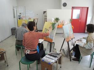 火曜絵画教室の様子