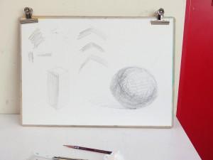 鉛筆の使い方の実演も行ないました。