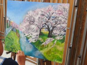 新坂川の春