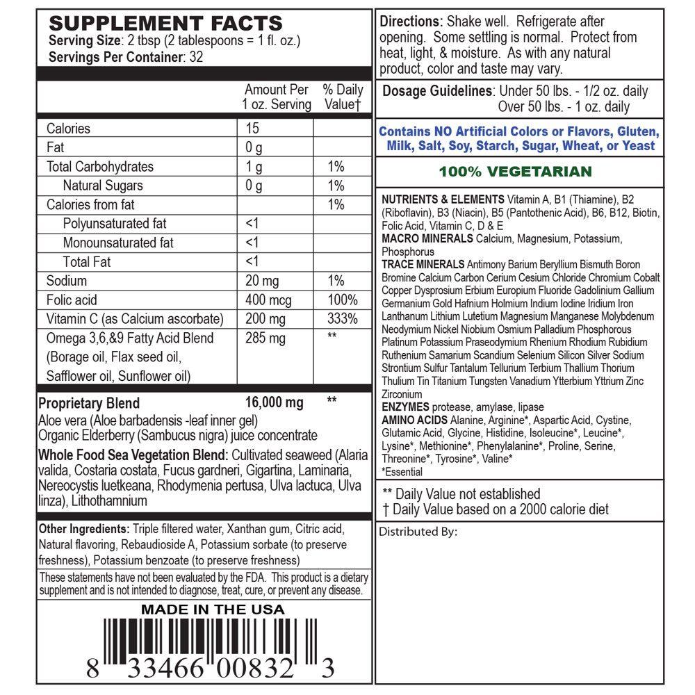 Private Label Children's Whole Food Liquid Multivitamin