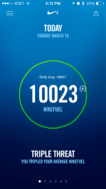 Nike Fuel for the day. Sheesh.