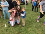 There were a number of cute little Daryl Dixon's going after the Zombies.