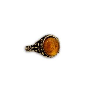 anello agata gialla madorlato