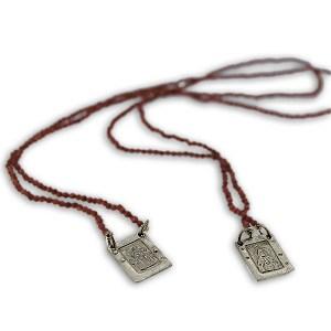 Scapolare Sacro in Argento 925 o Bronzo con Occhio di Tigre