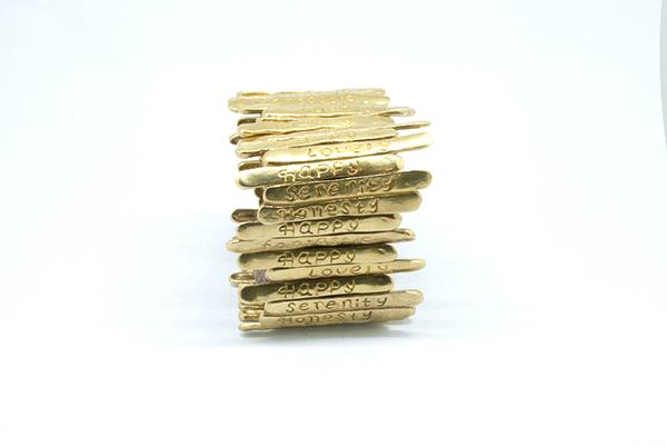 mattana design bracciale elastico in bronzo