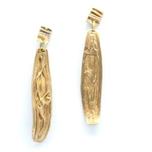 mattana design orecchini drappo bronzo goccia