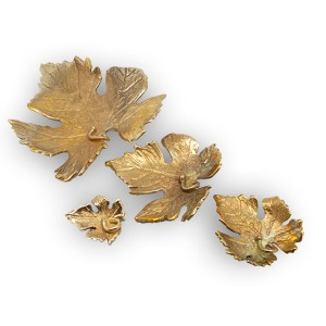 mattana design natura pendente foglia bronzo