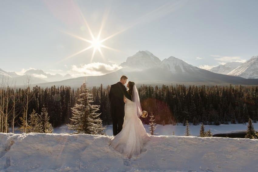 Les  Mel wedding in Lake Louise Canada  Matt  Lena Photography