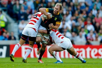 Rugby World Cup group game from Pool B between South Africa and Japan. at Brighton Community Stadium. (c) Matt Bristow