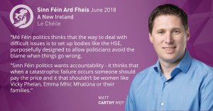 Matt Carthy MEP Cervical Screening Scandal