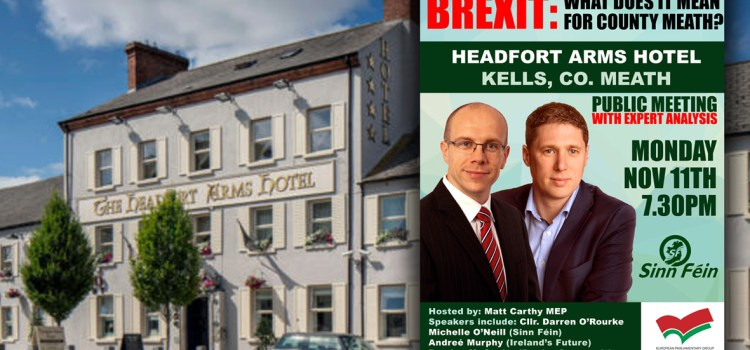 Press Notice: Carthy to host Brexit discussion panel in Meath tonight