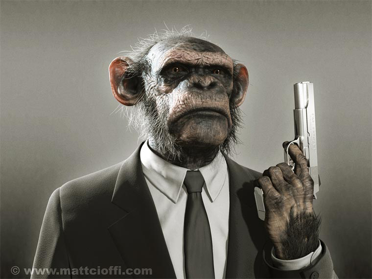 Gangsta Chimp