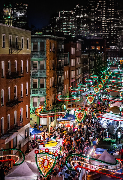 Rooftop aerial at St. Anthony's Feast