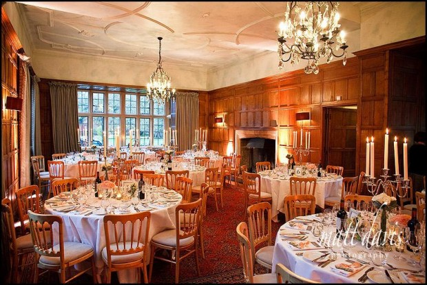 Intimate Wedding Ceremony In The Alcove In The Auberge Du