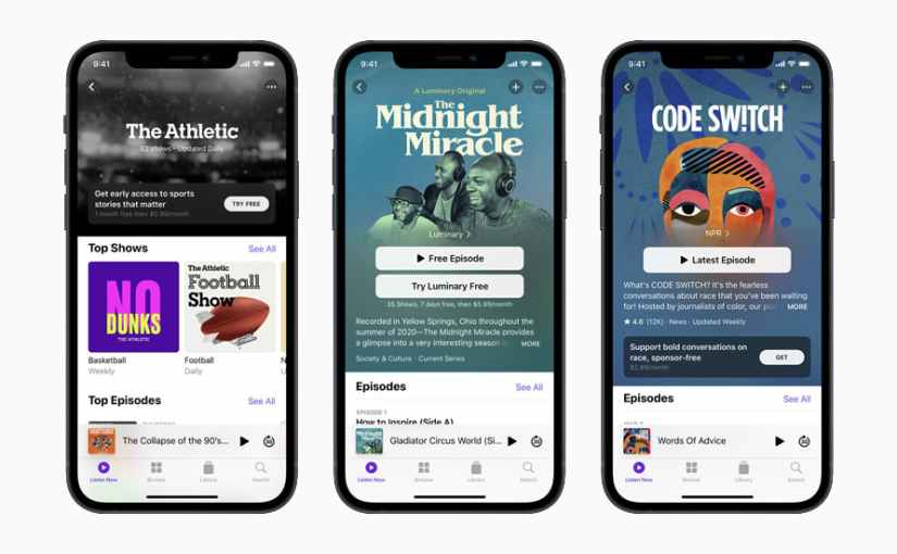 Apple's New Subscription Podcast Features
