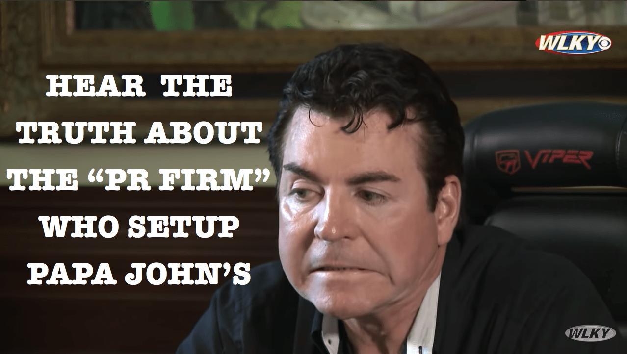 Media Training Firm Frames Papa John's Founder John Schnatter