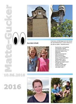 Titelseite Mattegucker 2016