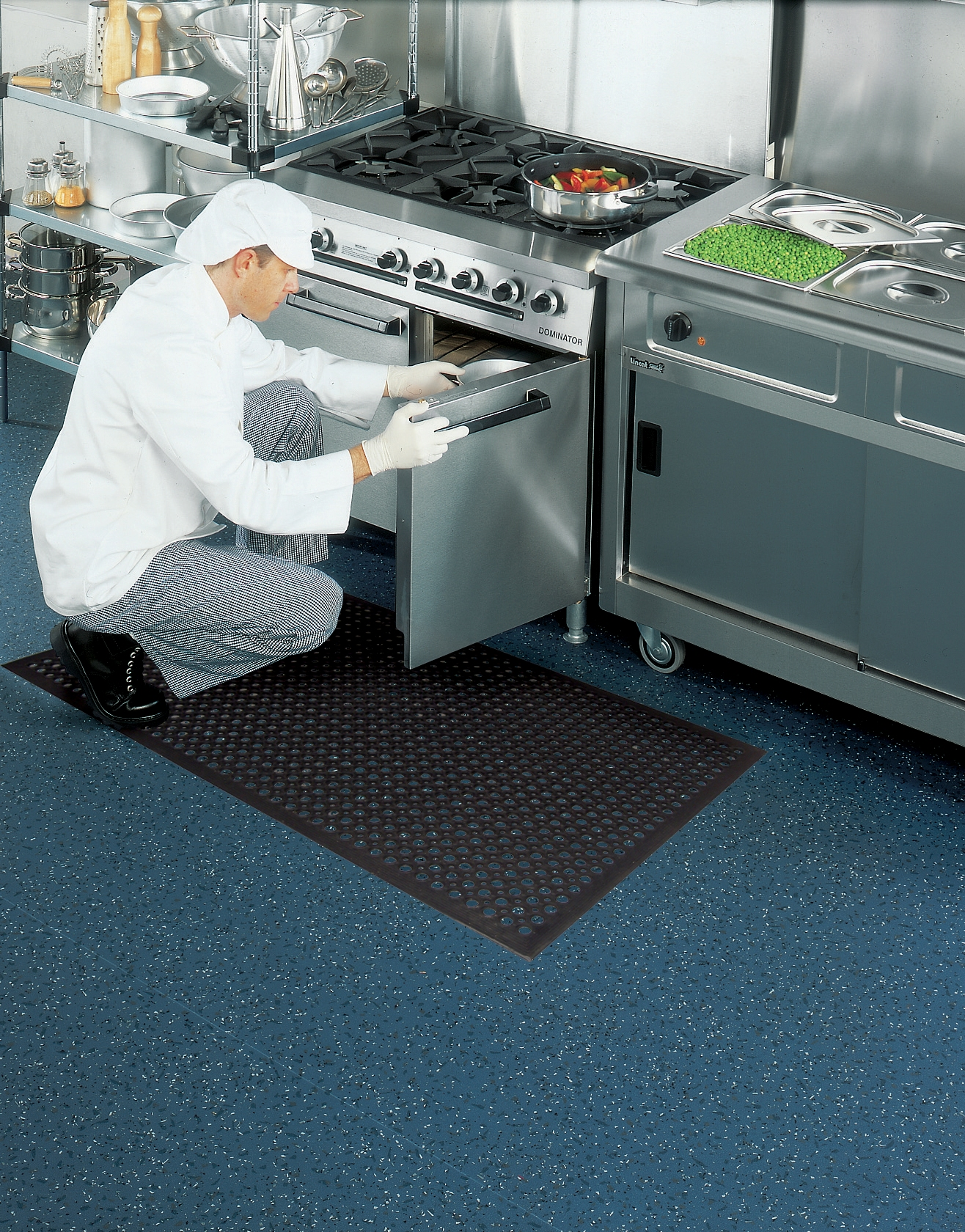 commercial kitchen floor coverings sink single bowl safety cushion mat for wet and dry areas mattek