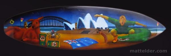 Surfboards Australia Flag