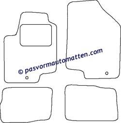 100% Pasvorm automatten voor de Kia Soul 2009-2011