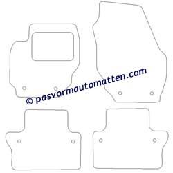 100% Pasvorm automatten voor de Volvo V70 en XC70 2007-