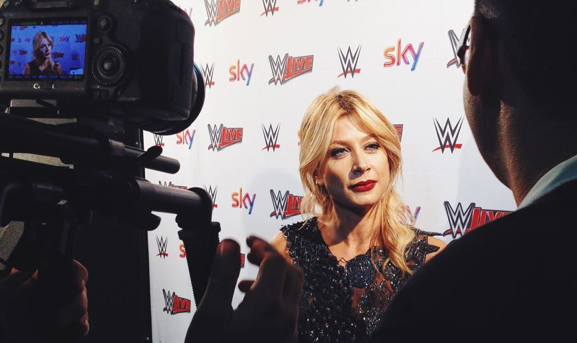 Maddalena Corvaglia all'evento WWE Roma 2015