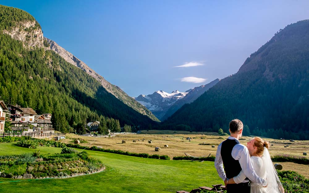 Marriage in Valle dAosta Bellevue Hotel  Cogne