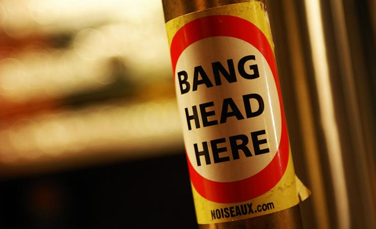 Bang your head here
