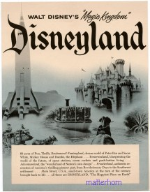 Disneyland Vintage Advertisement