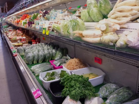 Produce section of Oriental market