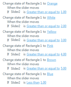 Slider triggers