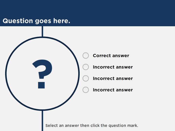 Quiz slides
