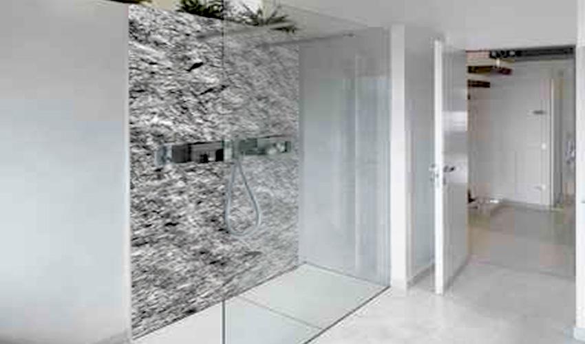 Dusche mit steinwand  Huser, Immobilien, Bau
