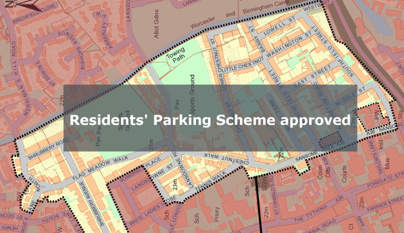 Latest news re. residents' parking scheme