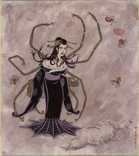 Japanese rendering of the Jyorogomu demon