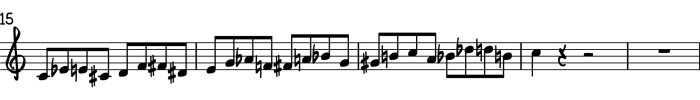 Chromatic Exercise alternating minor 3rds