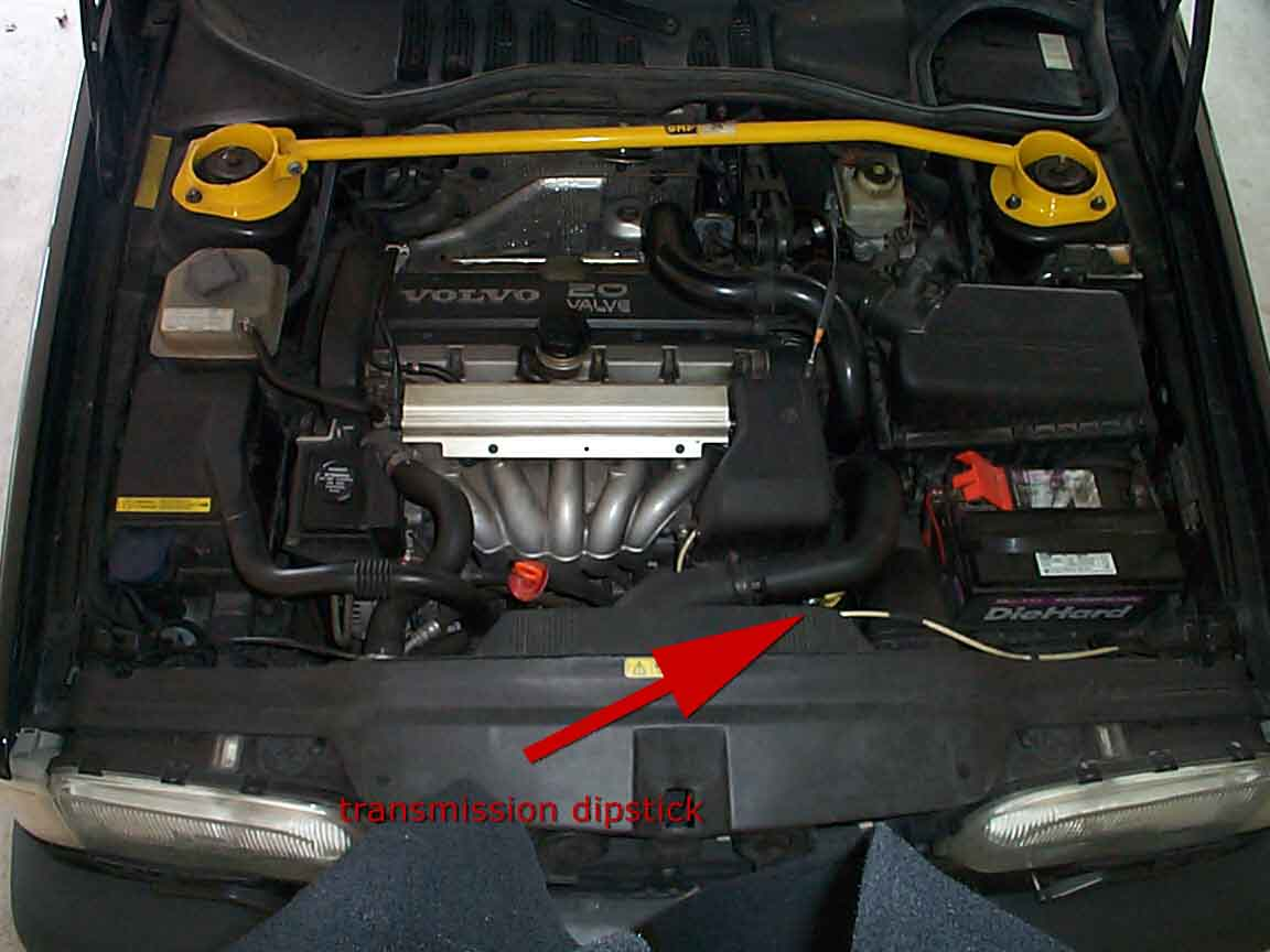 hight resolution of volvo repairs fixes transmission dipstick location no