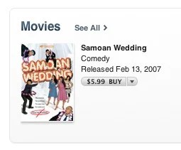 Samoan Wedding United States iTunes Store