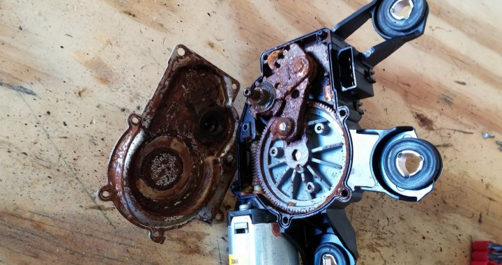 2007 audi a6 avant rear wiper motor repair