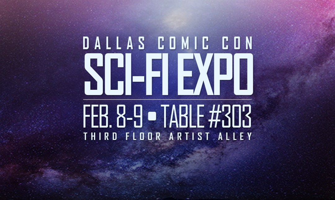 The Art of Warlick at Dallas Comic Con's Sci-Fi Expo
