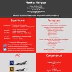 """CV Matthias Meriguet Freelance """"Community Management"""" Communication Graphisme Lyon"""