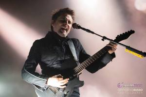 Matt Bellamy sul palco di Rock In Roma
