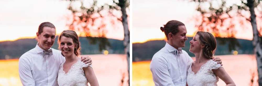 bröllop solnedgång