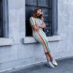 colorful striped Milly dress