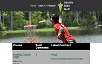 Seattle Disc Golf Website