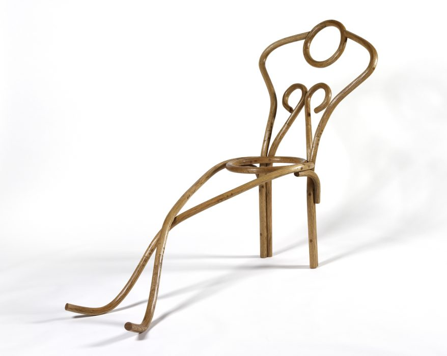 Reclining Nude, 2008 Steam-bent and laminated red oak 65 x 47 x 28 inches