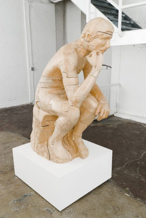 Puzzleman, 2009 Basswood with carnauba wax 60 x 40 x 30 inches